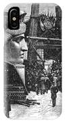 Statue Of Liberty, 1881 IPhone Case