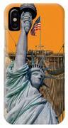 Statue Of Liberty - Brooklyn Bridge IPhone Case