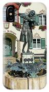 Statue Of Young Wolfgang Amadeus Mozart In St. Gilgen, Austria IPhone Case