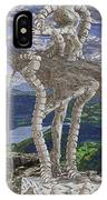 Statue On The Rocks  IPhone Case