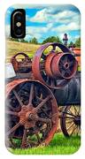 Steam Powered Tractor - Paint IPhone Case