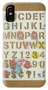 Stencil Alphabet Fun IPhone Case