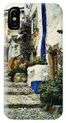 Step Street In Obidos IPhone Case