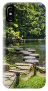 Stepping Stones Japanese Garden Maymont IPhone Case