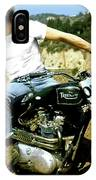 Steve Mcqueen, Triumph Motorcycle, On Any Sunday IPhone Case
