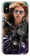 Steven Tyler On A Bike IPhone Case