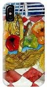 Still Life Art Fruit Basket 3 IPhone Case