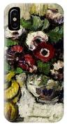 Still Life With Anemones And Fruit IPhone Case
