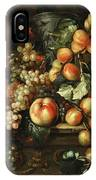 Still Life With Apples And Grapes IPhone Case