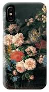 Still Life With Basket Of Flowers IPhone Case