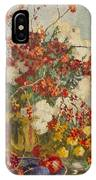 Still Life With Pink Flowers IPhone Case
