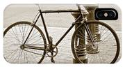 Still Life With Trek Bike In Sepia IPhone Case