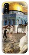 Stolen Light-dome Of The Rock Temple Mount IPhone Case