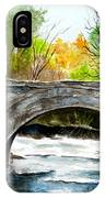 Stone Bridge In Maine  IPhone Case