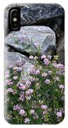 Stone Flowers Pink IPhone X Case