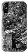 Stone Stairway Along The Wissahickon Creek In Black And White IPhone Case