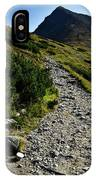 Stone Walkway Towards The Pointed Peak IPhone Case