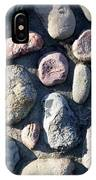 Stone Wall At Gallup Park IPhone Case