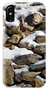 Stones And Snow IPhone Case