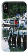Stonington Harbor With Pier Maine Coast IPhone Case