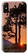Stop Right Here - Rocky Mountain Np - Sunrise IPhone Case