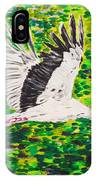 Stork In Flight IPhone Case