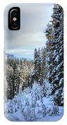 Storm Clouds Over Bow Valley Parkway IPhone Case
