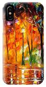 Storm Of Emotions - Palette Knife Oil Painting On Canvas By Leonid Afremov IPhone Case