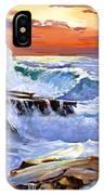 Storm On The Irish Coast IPhone Case