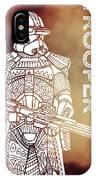 Stormtrooper - Star Wars Art - Brown IPhone Case