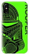 Stormtrooper Helmet - Green - Star Wars Art IPhone Case