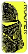 Stormtrooper Helmet - Yellow - Star Wars Art IPhone Case