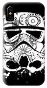 Stormtrooper Mask White Black 5 IPhone Case