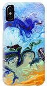 Stormy Seas Abstract #3 IPhone Case