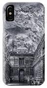 Strahov Monastery Philosophical Hall Bw IPhone Case
