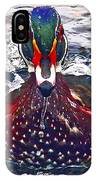 Straight Ahead Wood Duck IPhone Case