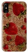 Strawberries And Stone Slab  IPhone Case
