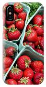 Strawberries In A Box On The Green Grass IPhone Case