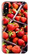 Strawberries With Green Weed In Plastic Containers  IPhone Case