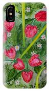 Strawberry Love Patch IPhone Case