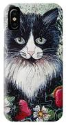 Strawberry Lover Cat IPhone Case