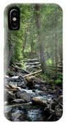 Streaming Through The Trees IPhone Case