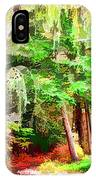 Streams In A Wood Covered With Leaves IPhone Case