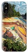 Street Art At Washington D.c. - Cultivating The Rebirth 3 IPhone Case