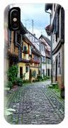 Street In Eguisheim, Alsace, France IPhone Case