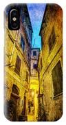 Street In Vernazza - Vintage Version IPhone Case