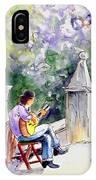 Street Musician In Pollenca IPhone Case
