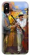 Street Musicians In Prague In The Czech Republic 01 IPhone Case