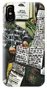 Street Preacher On The A Train IPhone Case