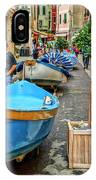 Street Scene Manarola Italy Dsc02634 IPhone Case